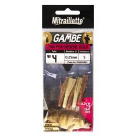 Gambes MITRAILLETTE Pan Fish Hegene Gold 12-350