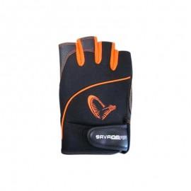 Mitaines Savage Gear Protect Gloves Black/Orange T.XL