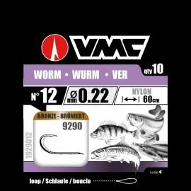 Hameçons montés VMC 9290 Worm Ver