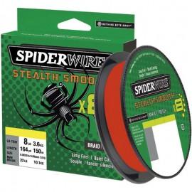 Tresse SpiderWire Stealth Smooth 8 braid Rouge