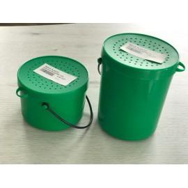 Boite plastic asticots CORMOURA/DRAGON verte 1/2L